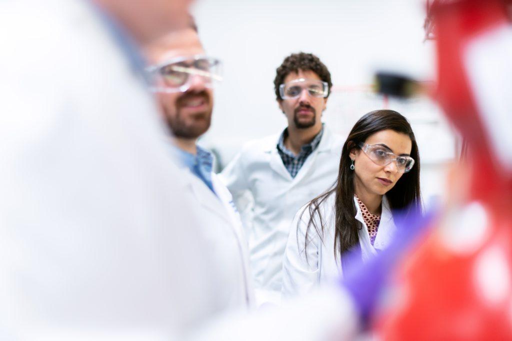 engineers in lab coats